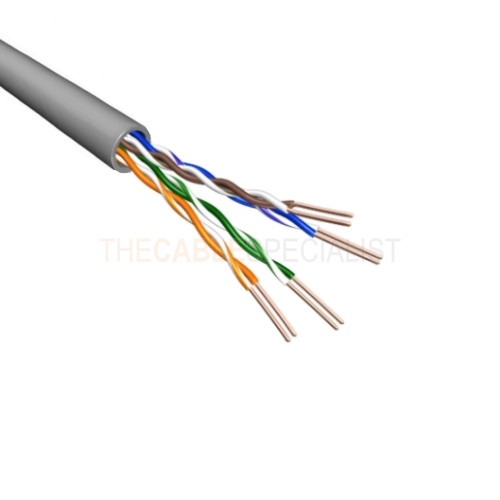 cat6 u utp cable stranded awg24 pvc grey 500m. Black Bedroom Furniture Sets. Home Design Ideas